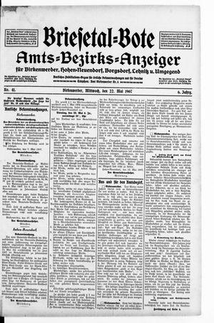 Briesetal-Bote vom 22.05.1907