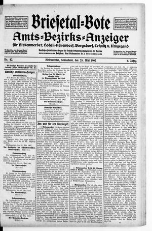 Briesetal-Bote vom 25.05.1907