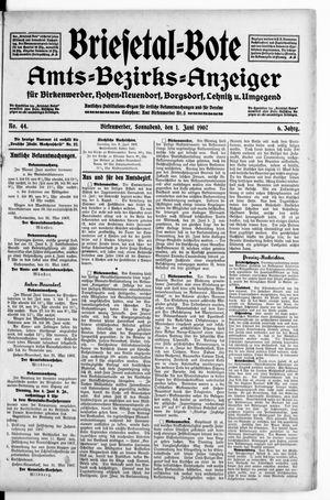Briesetal-Bote vom 01.06.1907