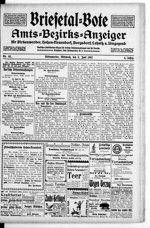 Briesetal-Bote vom 05.06.1907