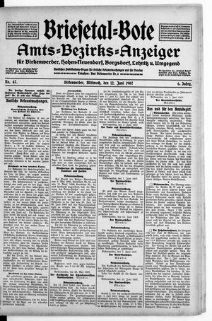 Briesetal-Bote vom 12.06.1907