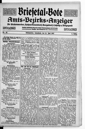 Briesetal-Bote vom 15.06.1907
