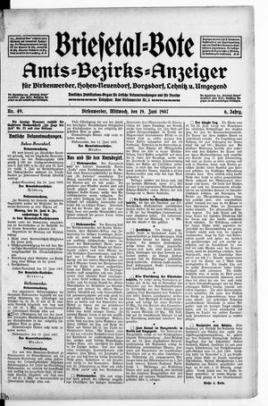 Briesetal-Bote vom 19.06.1907