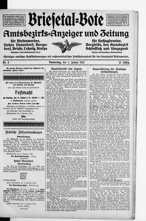 Briesetal-Bote vom 09.01.1913