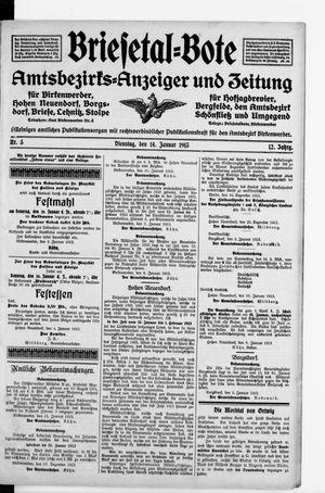 Briesetal-Bote vom 14.01.1913