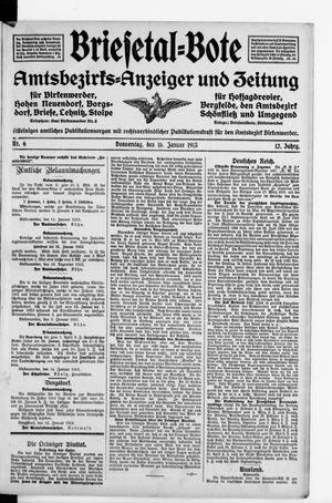 Briesetal-Bote on Jan 16, 1913