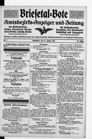 Briesetal-Bote vom 18.01.1913