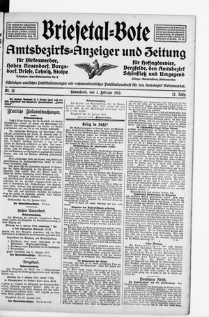 Briesetal-Bote vom 01.02.1913