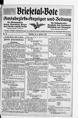 Briesetal-Bote on Feb 4, 1913