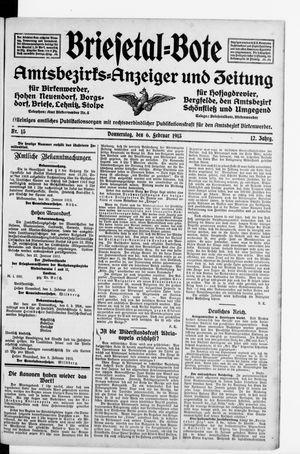 Briesetal-Bote vom 06.02.1913
