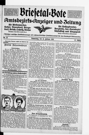 Briesetal-Bote vom 13.02.1913
