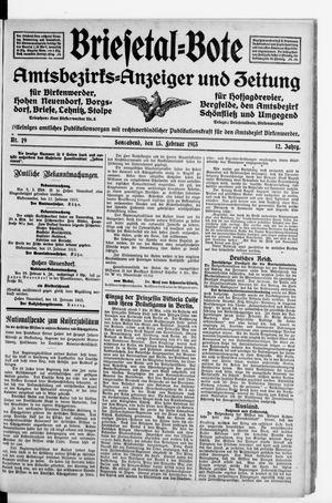 Briesetal-Bote vom 15.02.1913
