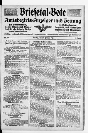 Briesetal-Bote vom 18.02.1913