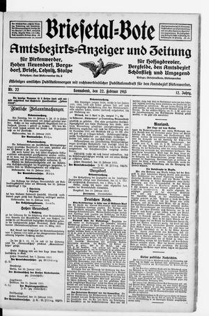 Briesetal-Bote vom 22.02.1913