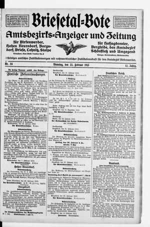 Briesetal-Bote vom 25.02.1913