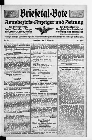 Briesetal-Bote vom 15.03.1913
