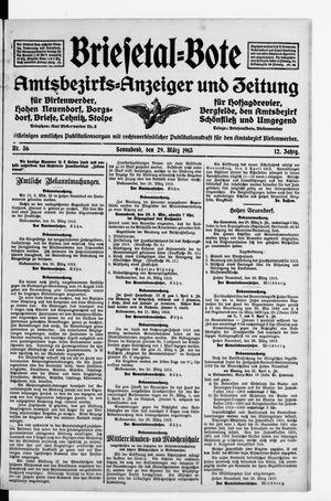 Briesetal-Bote vom 29.03.1913
