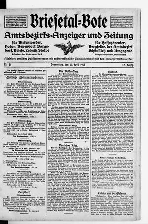 Briesetal-Bote vom 10.04.1913