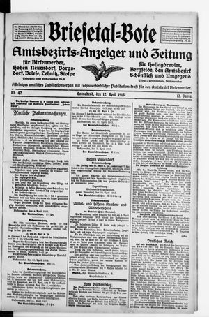Briesetal-Bote vom 12.04.1913