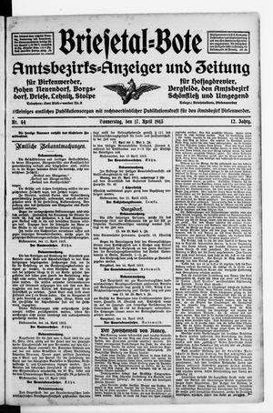 Briesetal-Bote vom 17.04.1913