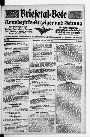 Briesetal-Bote vom 19.04.1913
