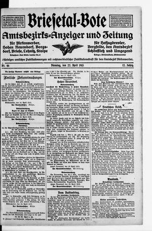 Briesetal-Bote vom 22.04.1913