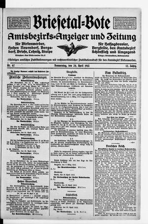 Briesetal-Bote vom 24.04.1913