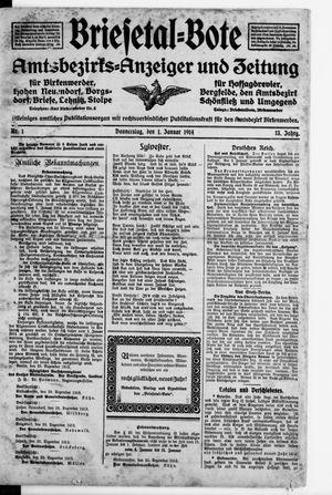 Briesetal-Bote vom 01.01.1914