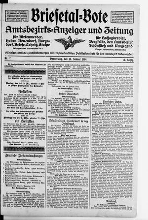 Briesetal-Bote vom 15.01.1914