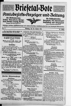 Briesetal-Bote vom 20.01.1914