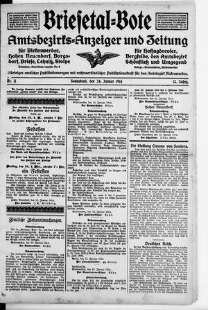 Briesetal-Bote vom 24.01.1914