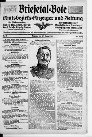 Briesetal-Bote vom 27.01.1914