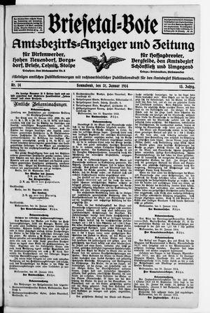 Briesetal-Bote vom 31.01.1914