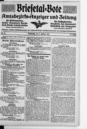 Briesetal-Bote vom 05.02.1914