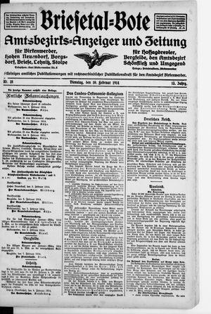 Briesetal-Bote vom 10.02.1914