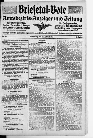 Briesetal-Bote vom 12.02.1914