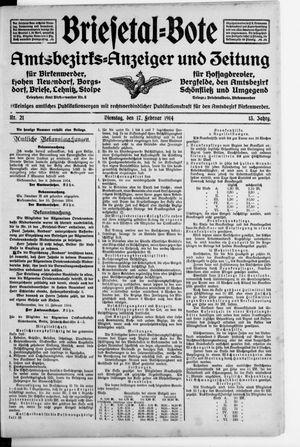Briesetal-Bote vom 17.02.1914
