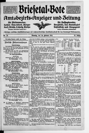 Briesetal-Bote vom 24.02.1914
