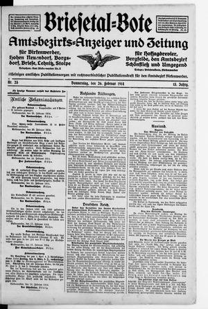 Briesetal-Bote vom 26.02.1914