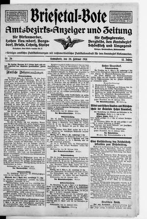 Briesetal-Bote vom 28.02.1914