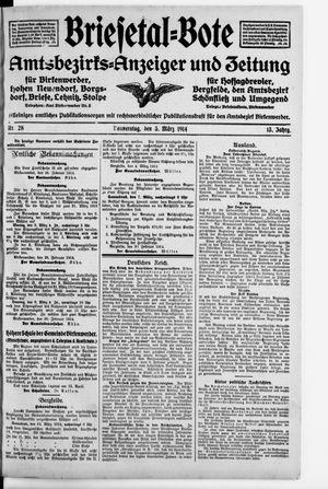 Briesetal-Bote vom 05.03.1914