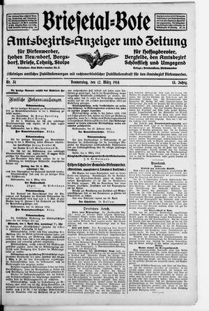 Briesetal-Bote vom 12.03.1914