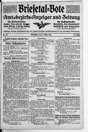 Briesetal-Bote vom 14.03.1914