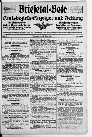 Briesetal-Bote vom 17.03.1914