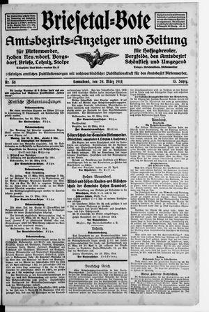 Briesetal-Bote vom 28.03.1914