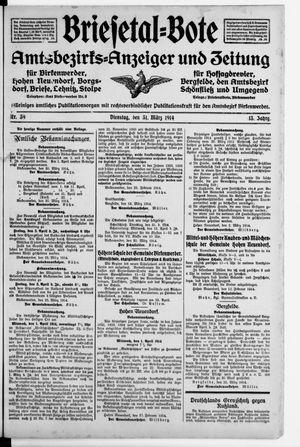 Briesetal-Bote vom 31.03.1914