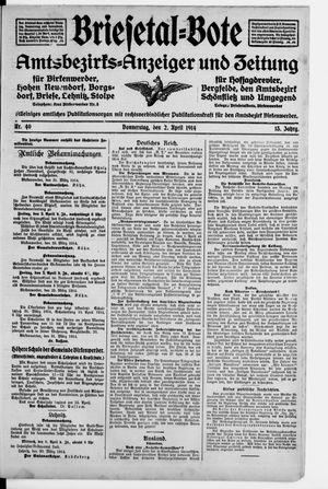 Briesetal-Bote vom 02.04.1914