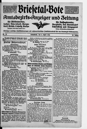 Briesetal-Bote vom 04.04.1914