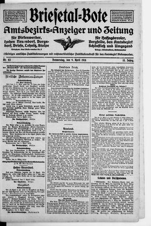 Briesetal-Bote on Apr 9, 1914