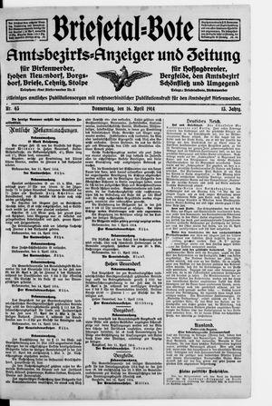 Briesetal-Bote vom 16.04.1914
